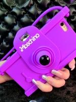 เคสไอโฟน 6 Plus /6s Plus เคสซิลิโคน Miss Camera สีม่วง