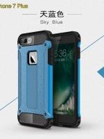 เคสไอโฟน 7 (Silicone case and Hard Case Back) Blue Aluminium