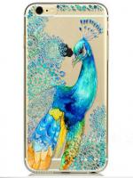 เคสไอโฟน 5c (TPU CASE) พิมพ์ลายนกยูง