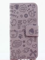 เคสไอโฟน 5/5s/SE (Case Iphone 5/5s/SE) กระเป๋าลายแม่มดน้อย สีม่วง