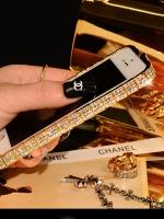 เคสไอโฟน 6 Plus (ฺฺBumber case ) กรอบสีทองฝังเพชรไอโซ