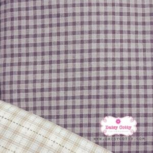 ผ้าทอญี่ปุ่น 1/4ม.(50x55ซม.) สีม่วงตาราง