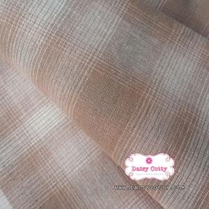 ผ้าทอญี่ปุ่น 1/4ม.(50x55ซม.) ลายตารางไล่สี โทนสีน้ำตาลส้ม