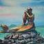 ภาพนางเงือก สีอะคริลิค Mermaid Acrylic color thumbnail 1
