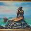 ภาพนางเงือก สีอะคริลิค Mermaid Acrylic color thumbnail 2