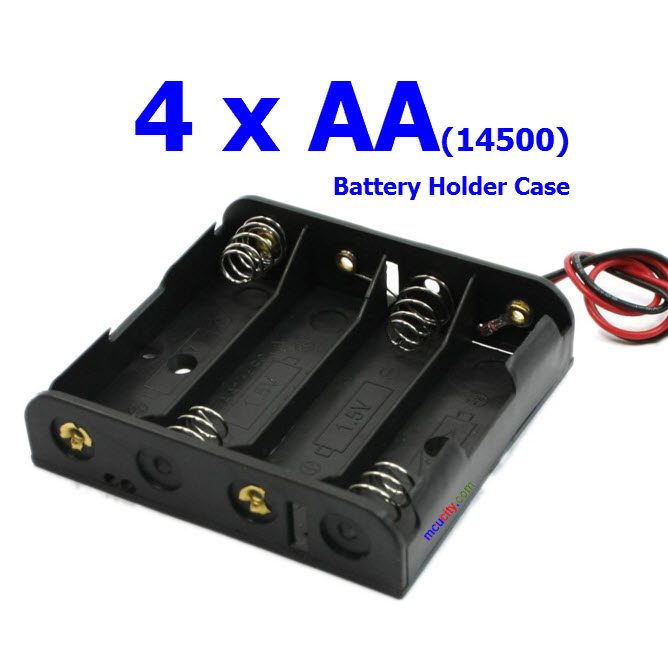 4x1.5V รางถ่าน AA (14500) 4 ก้อน