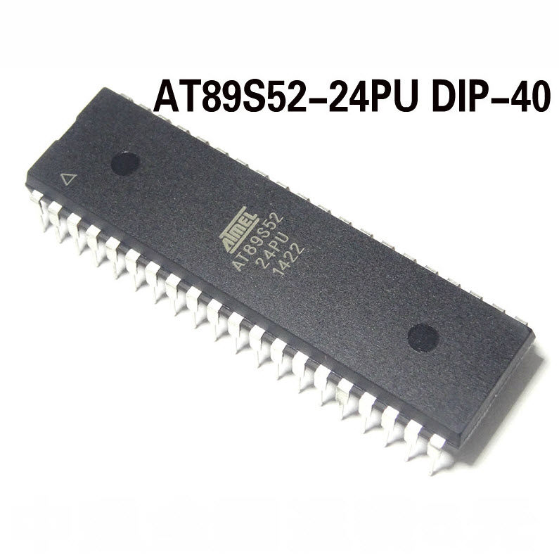 AT89S52-24PU (DIP40) MCS-51MCU ISP Flash 8KBytes,256 Bytes RAM 24MHz