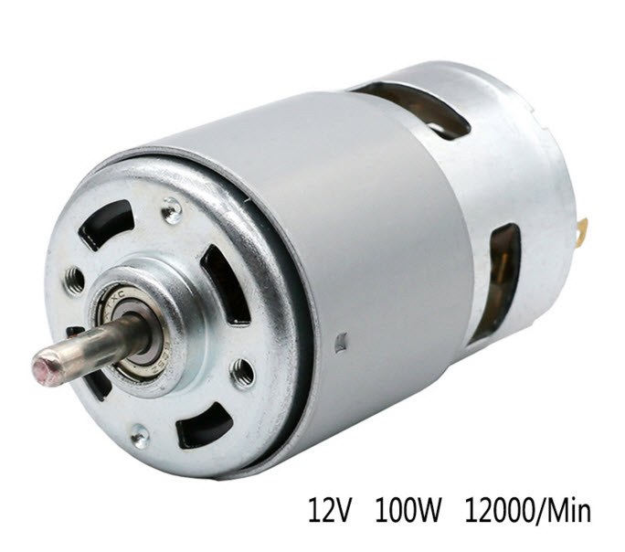 DC12V 100W 12000RPM High power torque Electric grinder drill chuck 775 Motor for Electric fans, toy, vacuum cleaner