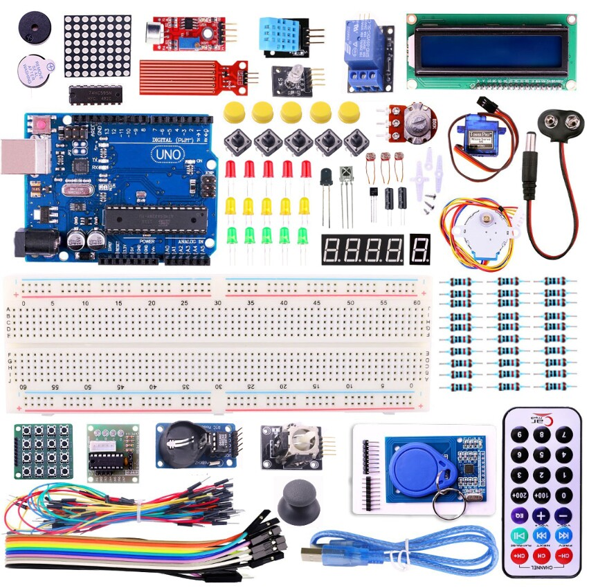 UNO R3 KIT Upgraded version for Arduino Starter Kit RFID Learn Suite Stepper Motor +I2C LCD1602