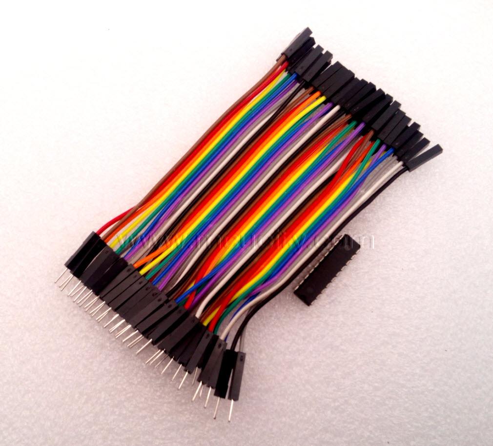 สาย (2.54mm) 40 pin to 40 pin (Female-Male) 10 cm