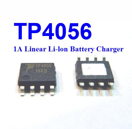 TP4056 1A Standalone Linear Li-lon Battery Charger (SOP8)