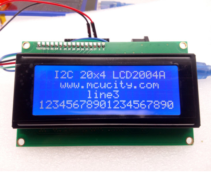 I2C LCD2004A LCD (BLUE Screen) 20x4 LCD with backlight