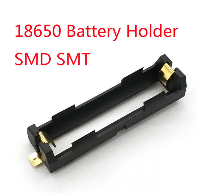 SMD 18650 Battery Storage Box charger High Quality With Bronze Pins TBH-18650-1C-SMT 18650 charger