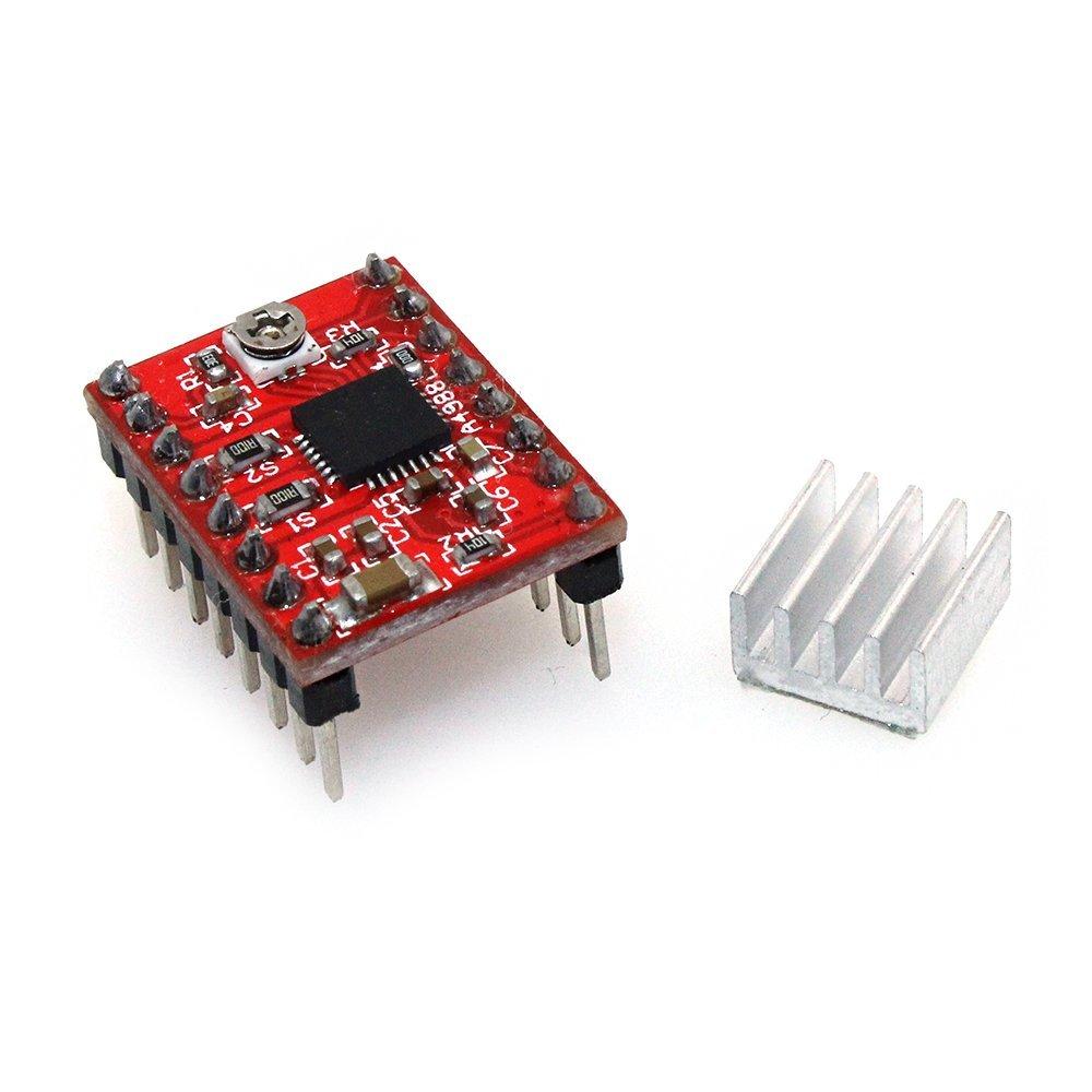 A4988 Stepper Motor Driver(with Heatsink,1A) for 3D Printer