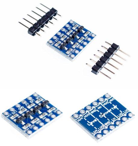 5V-3V I2C/ UART / SPI Four Channel Level Converter Module for Arduino