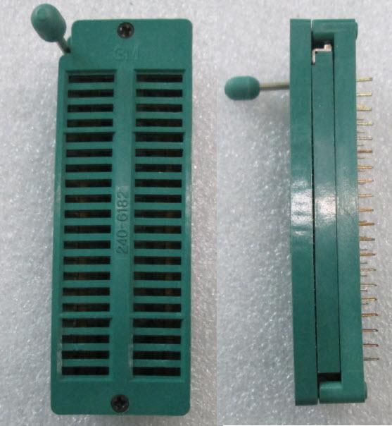 ZIF Socket 40 Pins Universal ZIF DIP Tester IC (2.54mm)- ขาทอง (GOLD PIN )