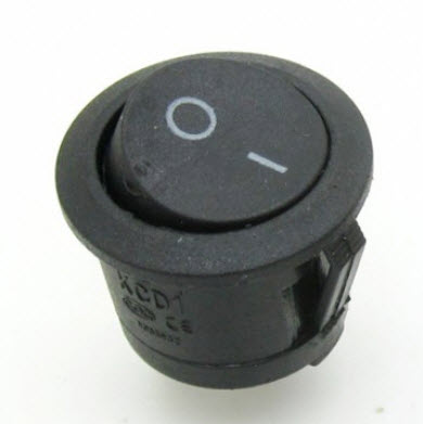 ROUND ROCKER SWITCH KCD1-105 (20mm) (ON-OFF)