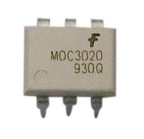 MOC3020 (DIP6) RANDOM-PHASE OPTOISOLATORS TRIAC DRIVER OUTPUT สีขาว