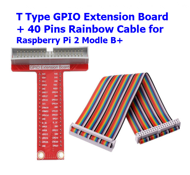 T type GPIO expansion board + 40P cable for Raspberry Pi