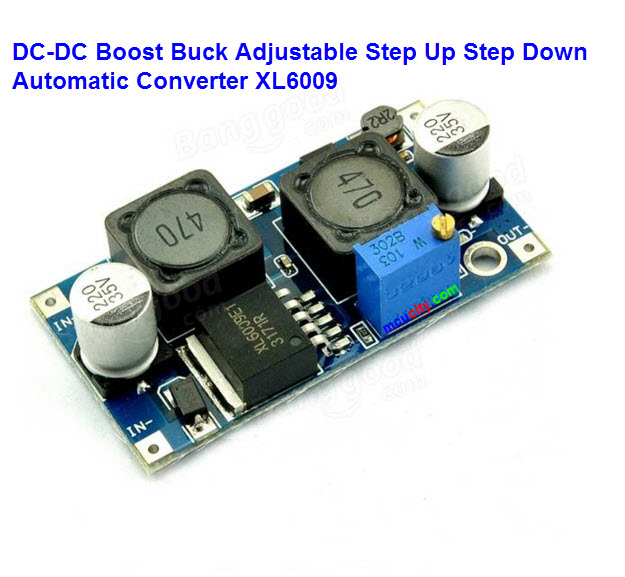 DC-DC Boost Buck Adjustable Step Up Step Down Automatic Converter XL6009 Module Suitable For Solar Panel