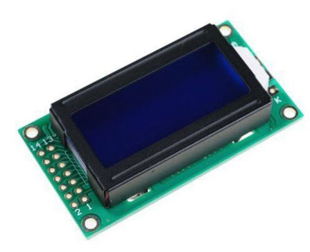 0802 8X2 characters LCD module blue backlight