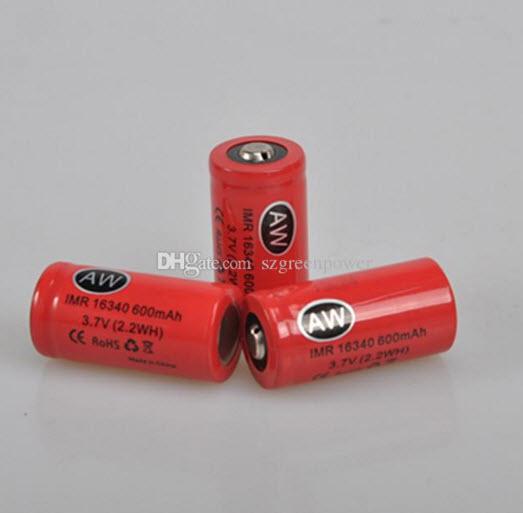 AW IMR16340 lithium battery 3.7V 600mAh