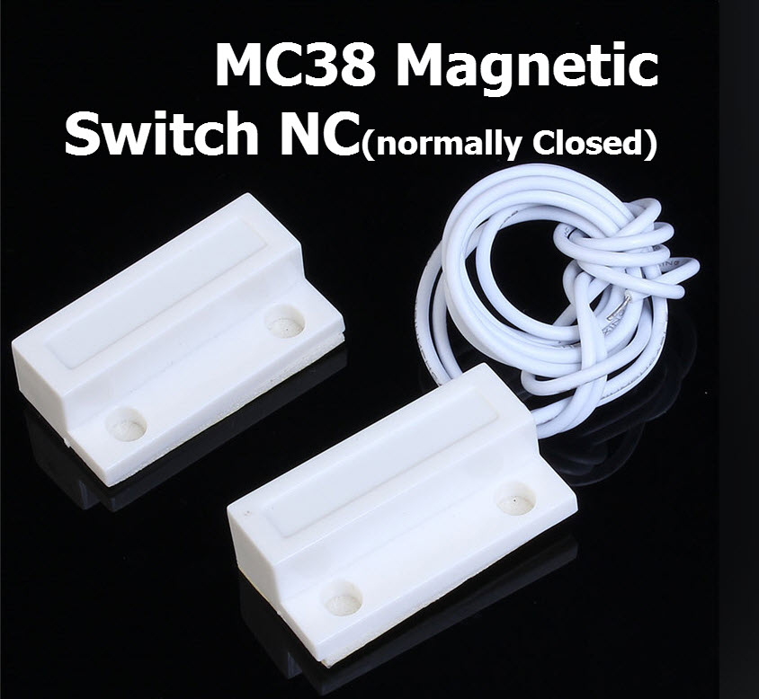 MC-38 Wired Door Window Sensor MC38 Magnetic Switch normally Closed NC for our Home gsm pstn Alarm System