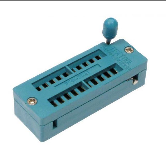 ZIF Socket 20 Pins Universal ZIF DIP Tester IC - ขาทอง (GOLD PIN ) สำเนา