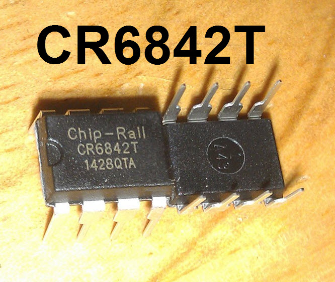 CR6842T Green-Power PWM Controller with Freq. Jittering