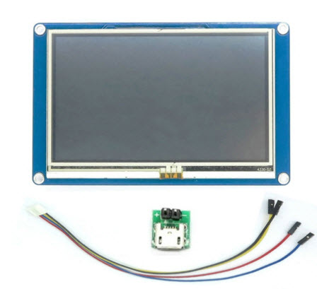 """4.3"""" Nextion NX4827T043 HMI Intelligent Smart Serial Touch TFT LCD Module Display Panel For Raspberry Pi Arduino"""