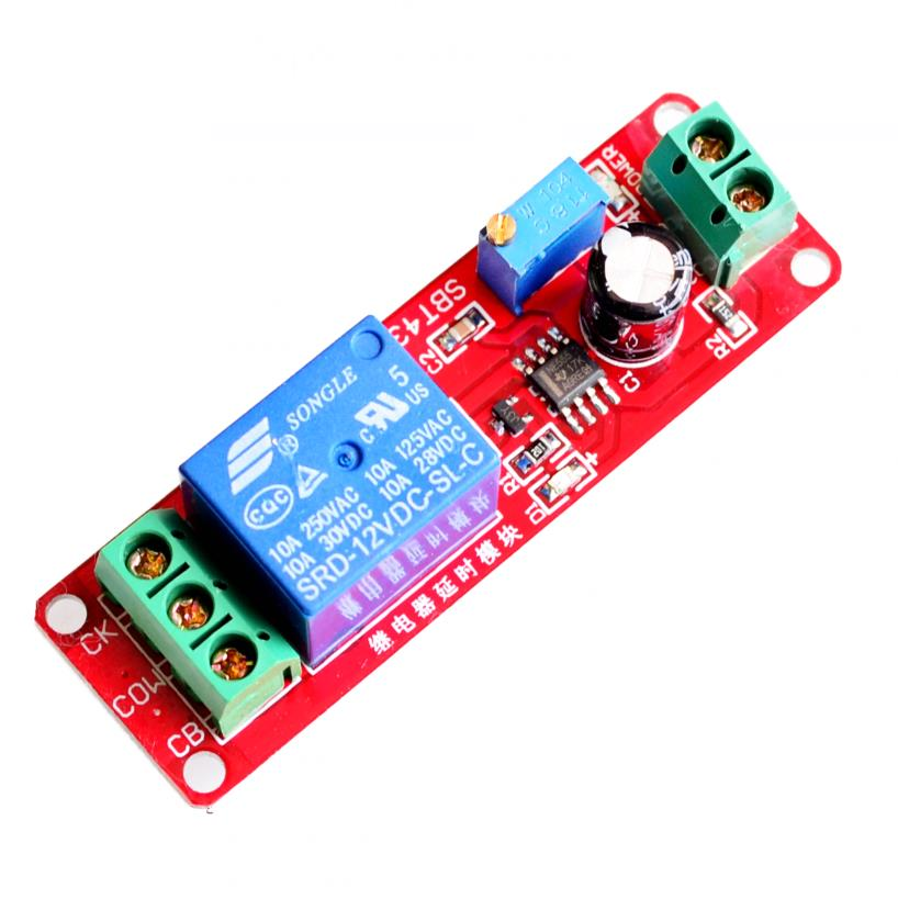 NE555 delay monostable switch module Delay switch (12v) vehicle electrical delay