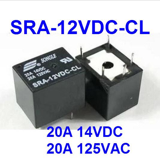 Relay SRA-12VDC-CL , SRA-05VDC-CL ,DC 20A