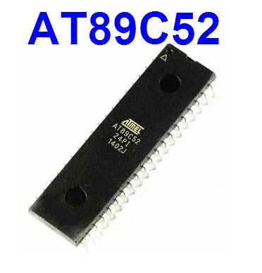 AT89C52-24PI (DIP40) MCS-51MCU 8KBytes,256 Bytes RAM 24MHz