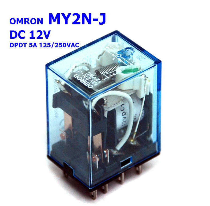 MY2NJ 12V OMRON Power Relay