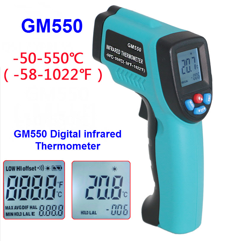 GM550 Infrared thermometer -50℃ to 550℃