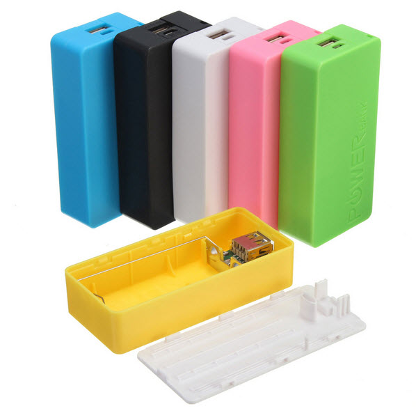 Universal Portable Safety USB Power Bank 2x18650 Battery Charger DIY Box Case Kit