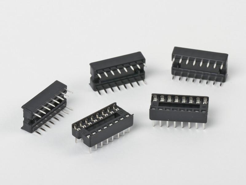 DIP16 (Socket Dip Solder Type 16 Pins, Pitch 2.54mm)