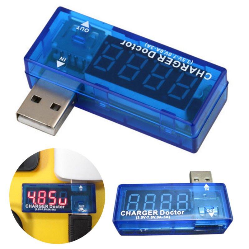 LED USB Mobile Power Charging Current Voltage Tester (3.5V-7V)