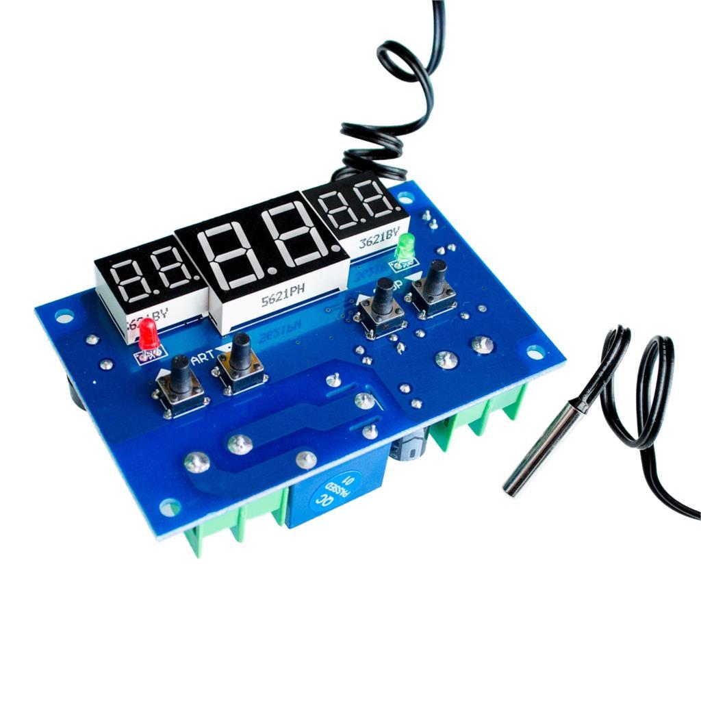 DC12V Digital Thermostat W1401 Intelligent Temperature Controller -9~99C With NTC Sensor led display