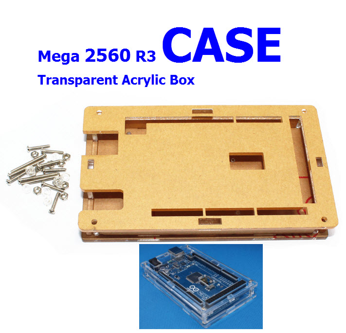 Transparent Case MEGA 2560 Acrylic Box for arduino Compatible with MEGA 2560