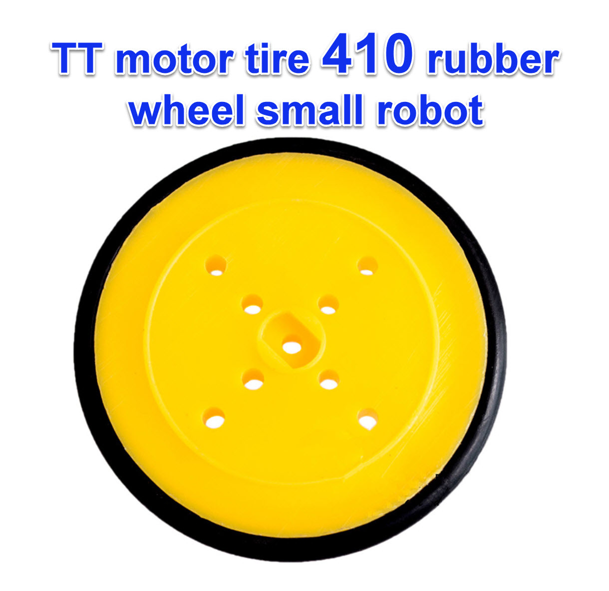 TT motor tire 410 rubber wheel small robot ล้อรถขนาดเล็ก