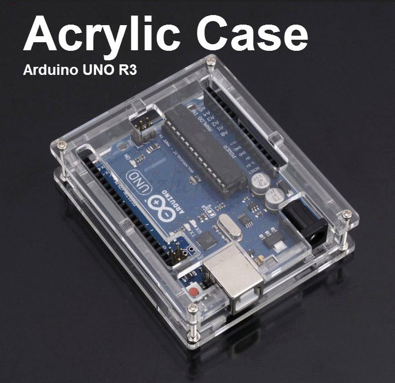 Acrylic Case Enclosure Box for Arduino UNO R3 - Transparent