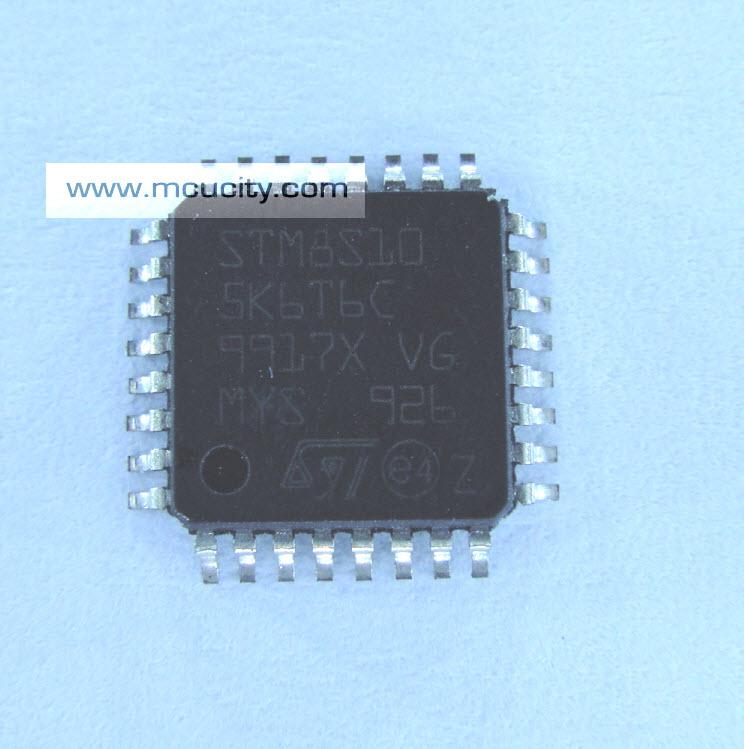 STM8S105K6T6 C (TQFP-32) 8-bit Microcontrollers - MCU Access Line 16 MHz 8-bit MCU 32 Kbyte