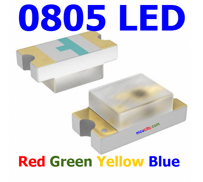 0805 LED Red Yellow Green Blue