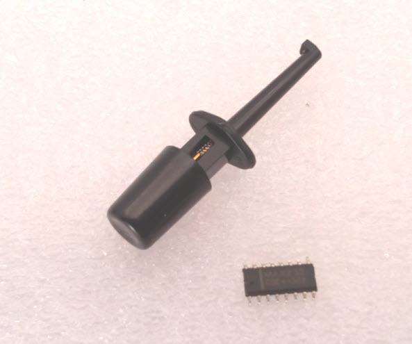 (BLACK) Hook Clip Test Probe for Electronic ( CLIP TEST J)