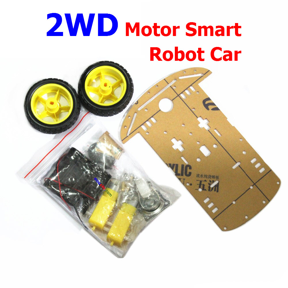 2WD Smart Car Chassis Kit Tracing Car With Speed Encoder 1:48 for Arduino