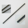1*40PIN round pin single row of high-quality gold-plated / Single row straight pin hole pin pitch 2.54MM