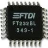 FTDI FT232BL/TR Interface Bridges, USB to UART, 3 V, 5.25 V, (LQFP-32 Pins)