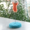ของเล่นแมว หนูสปริงฐานกลมสีฟ้า