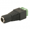 Easy Wire (FEMALE) Power 2.1mm DC Plug For CCTV Cameras With Screw Terminals